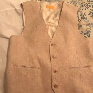 Other - Beautiful Men's 3 pcs 100% linen suit.